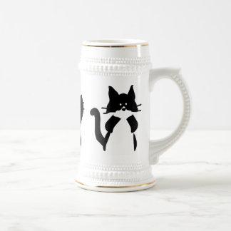 Three Wise Kitties Beer Stein