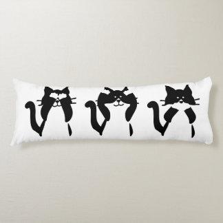 Three Wise Kitties Body Pillow