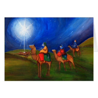 Three Wise Men as Cats, Christmas Card, Religious Card