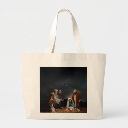 Three Wise Men at the Nativity Jumbo Tote Bag
