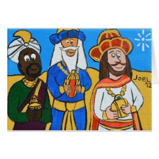 Three Wise Men by Joel Anderson Greeting Card