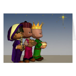 Three Wise Men Christmas Card
