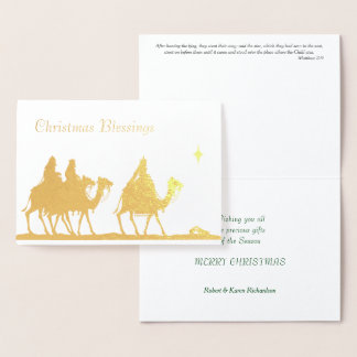 Three Wise Men Christmas Foil Card