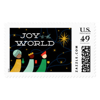Three Wise Men Christmas Postage Stamps