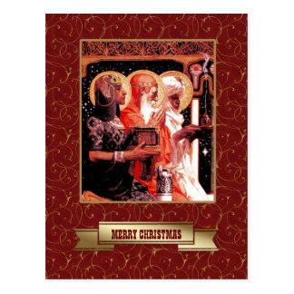 Three Wise Men. Christmas Postcards