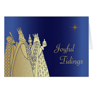 Three Wise Men Custom Christmas Greeting Card Greeting Cards