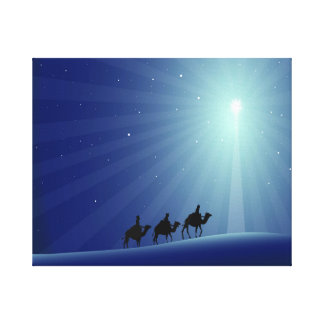 THREE WISE MEN GO FOR THE STAR OF BETHLEHEM CANVAS PRINT