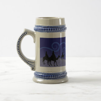 Three Wise Men guide by the  star of Bethlehem Beer Stein