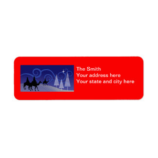 Three Wise Men guide by the  star of Bethlehem Labels