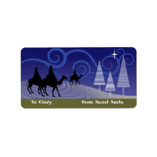 Three Wise Men guide by the  star of Bethlehem Address Label