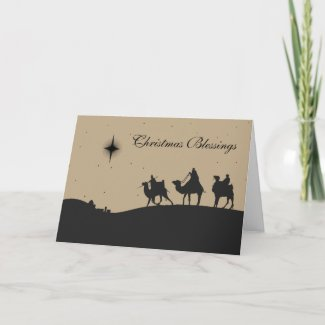 Three Wise Men Holiday Card card