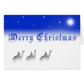 Three Wise Men Merry Christmas Card