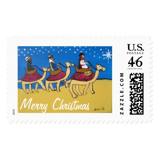 Three Wise Men on Camels by Joel Anderson Postage Stamps