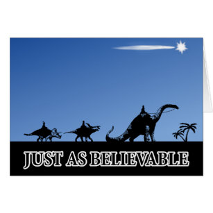 Funny atheist christmas cards greeting photo cards zazzle three wise men on dinosaurs card m4hsunfo