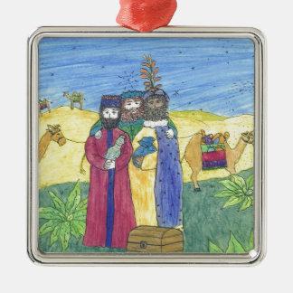 Three wise men christmas ornaments