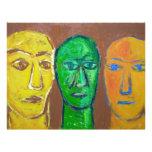 Three Wise Men (portrait expressionism) Letterhead Template
