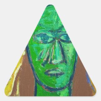 Three Wise Men (portrait expressionism) Triangle Sticker