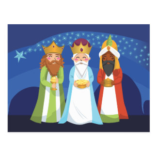Three Wise Men Post Card