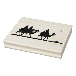 Three wise men silhouette pattern art stamp