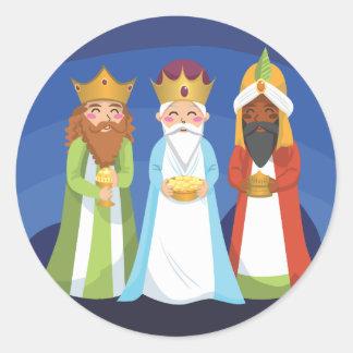 Three Wise Men Round Sticker