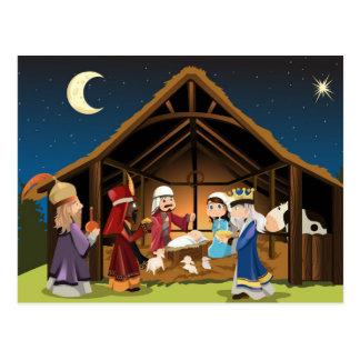 Three wise men visit Jesus Postcard Post Cards