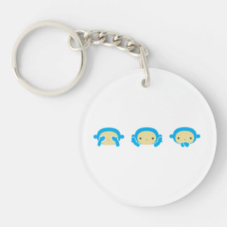 Three Wise Monkeys Acrylic Keychain