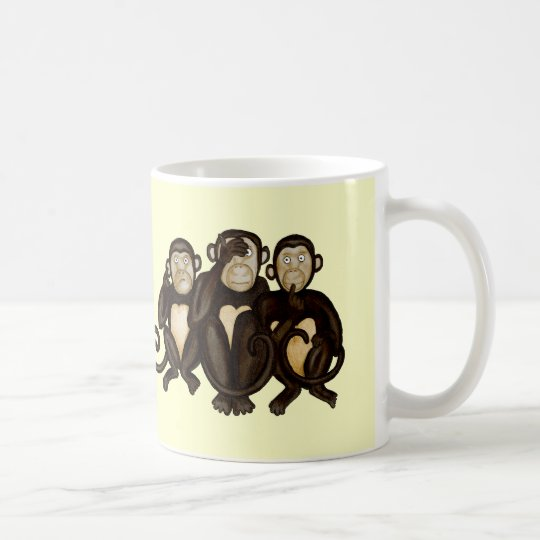 Three Wise Monkeys Coffee Mug