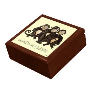 Three Wise Monkeys Trinket Box