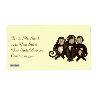 Three Wise Monkeys Label