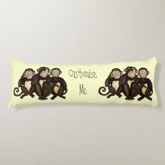 Three Wise Monkeys Body Pillow