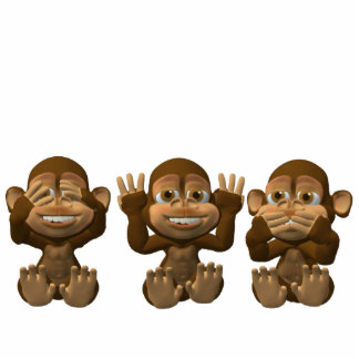 three wise monkeys photo cut outs