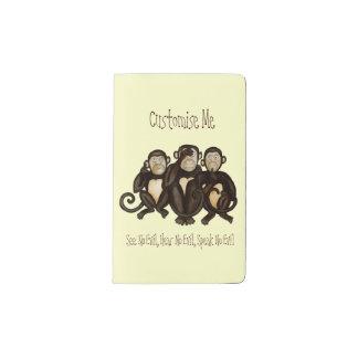 Three Wise Monkeys Pocket Moleskine Notebook