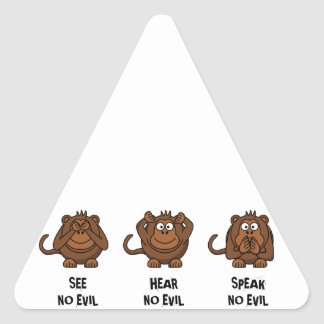Three Wise Monkeys Triangle Sticker