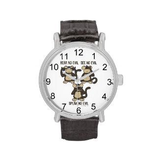 Three Wise Monkeys Wristwatches