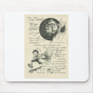 three wise old owls mouse pad