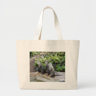 Three_Wise_Otters,_ Large Tote Bag