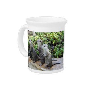 Three_Wise_Otters,_Milk_Jug Beverage Pitcher