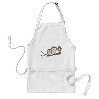 three wise owls adult apron