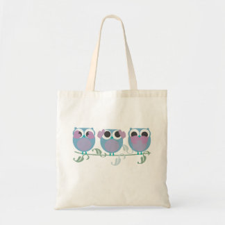 three wise owls see, hear, speak no evil tote bags