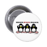 Three Wise Penguins Buttons
