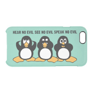 Three Wise Penguins Design Graphic Clear iPhone 6/6S Case