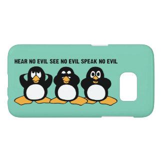 Three Wise Penguins Design Graphic Samsung Galaxy S7 Case