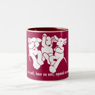 Three Wise Ragrats Two-Tone Coffee Mug