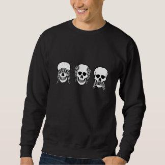 Three wise skulls, see, hear, speak no evil sweatshirt