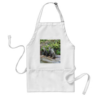 Three Wise Standing Otters, Adult Apron