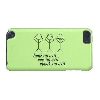 Three Wise Stick Figures - green background iPod Touch (5th Generation) Cover