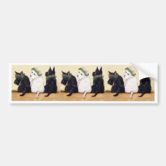 Three Wise Terriers Bumper Sticker