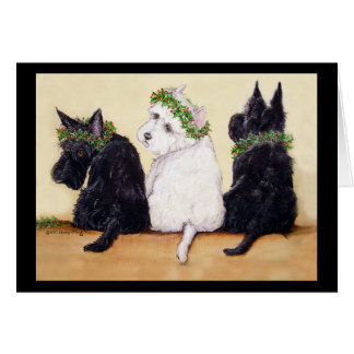 Three Wise Terriers Card
