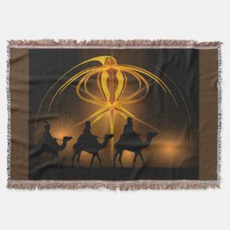 Three Wiseman Christmas Holiday Blanket Throw