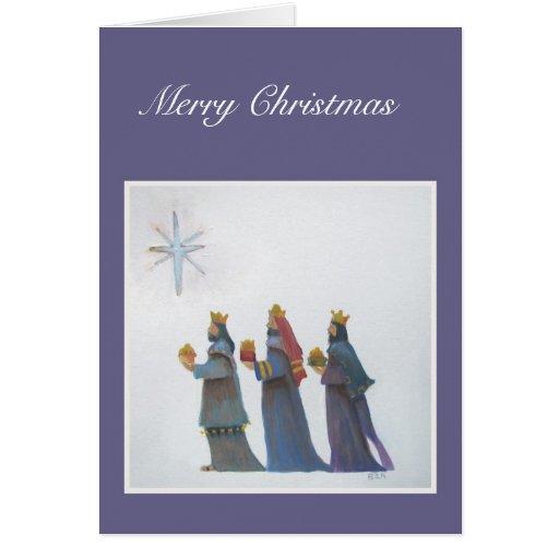 three wisemen card